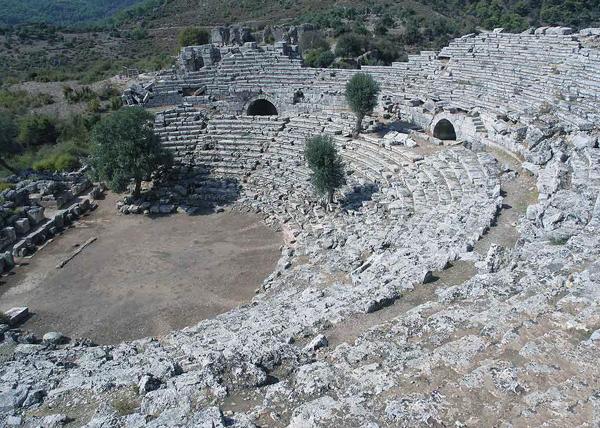 theater at Kaunos, Dalyan, Turkey