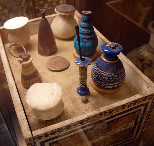 objects from the tomb of Kha and Meryt, Egyptian Museum of Turin, Italy