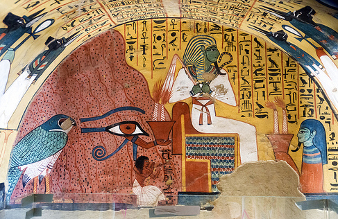 wall painting from the tomb of Pashedu, Deir el-Medina, Egypt