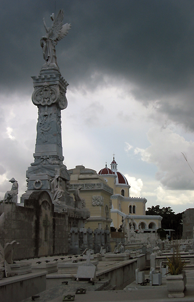 stormy day at Colon Cemetery in Havana