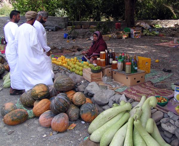 roadside market, Oman