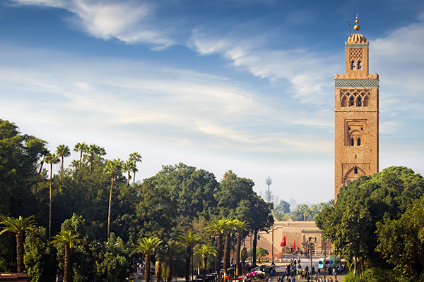 the famous Koutoubia minaret in Marrakech