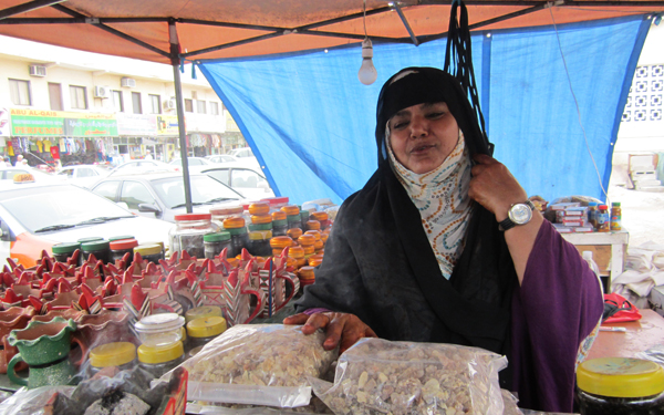 Frankincense vendor, Salalah, Oman