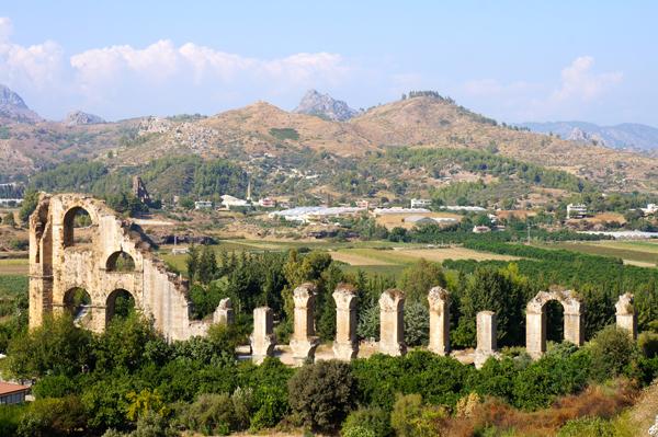 Roman aqueduct at Aspendos