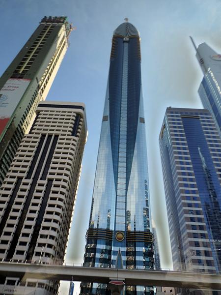 Downtown Abu Dhabi. That's Photoshop, not smog.