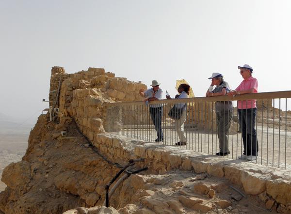 at Masada, Israel
