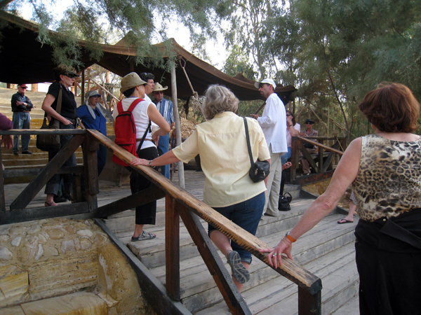at Bethany Beyond the Jordan in Jordan - likely baptism site of Jesus