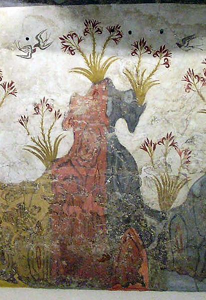 Akrotiri fresco, National Archaeological Museum, Athens