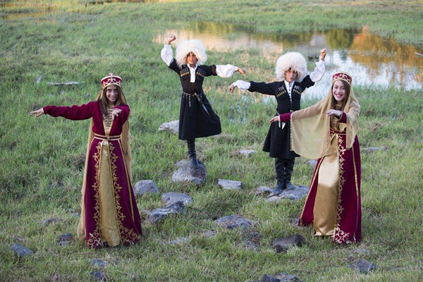 traditional Circassian dance & dress, photo by Itamar Grinberg, courtesy of IMOT