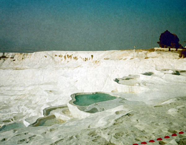 Travertine terraces at Pamukkale