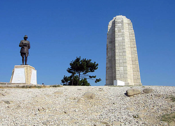 Ataturk Monument and New Zealand Memorial at Chunuk Bair, Gallipoli