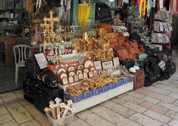 shop on the Via Dolorosa, Jerusalem