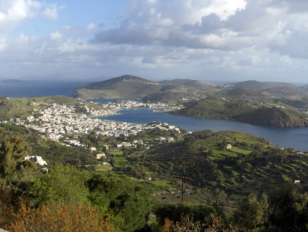 View from St. John Monastery, Patmos, Greece
