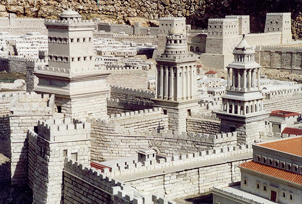 scale model of Jerusalem, Israel Museum, Jerusalem
