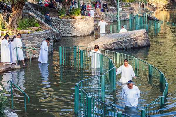Yardenit baptism site on the Jordan River