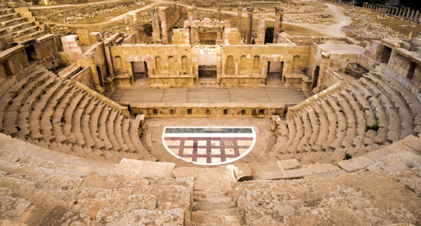 Roman theater, Jerash, Jordan