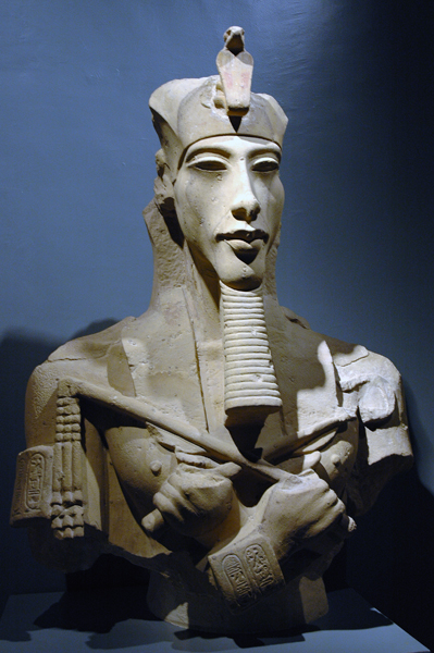 Akhenaten (the elongated face is a feature of the revolutionary Amarna art style)
