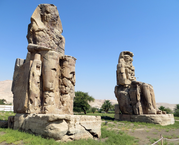 Colossi of Memnon, near Luxor, Egypt