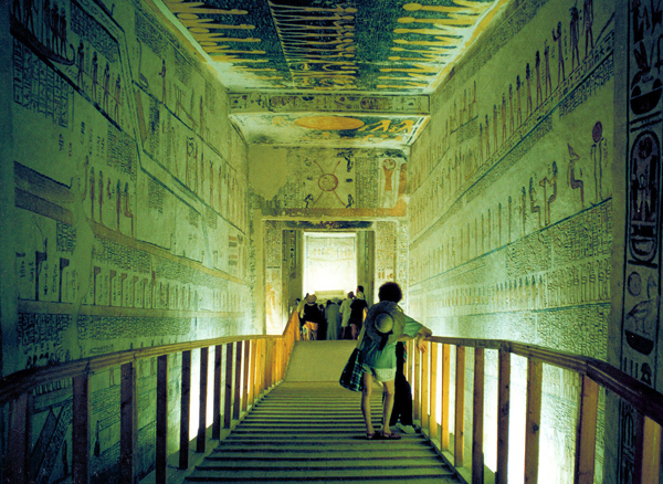 This photo of a tomb in the Valley of the Kings was taken years ago. It's no longer allowed to take photos inside the tombs.