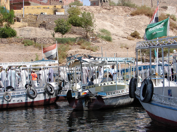 motor boats at Aswan