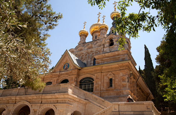 Russian Orthodox Church of Mary Magdalene, Mount of Olives, Jerusalem, photo by Noam Chen, courtesy of the Israel Ministry of Tourism