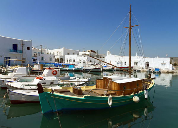 Parikia port, Paros Island, Greece
