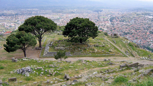 foundations of the Alter of Zeus, Pergamum, Turkey