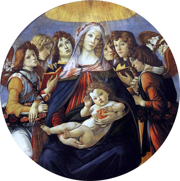 Madonna of the Pomegranate by Sandro Botticelli, 1487