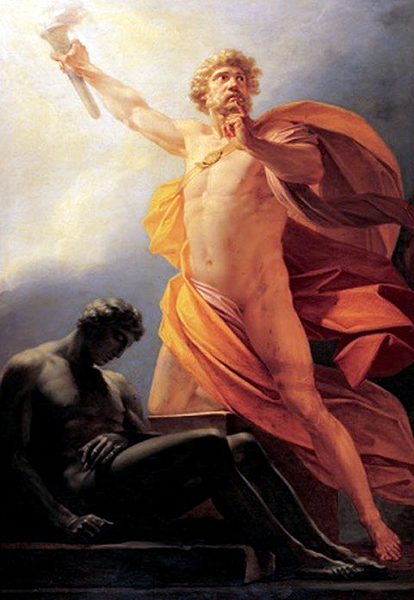 Prometheus Brings Fire to Mankind, Heinrich Friedrich Fuger, 1817