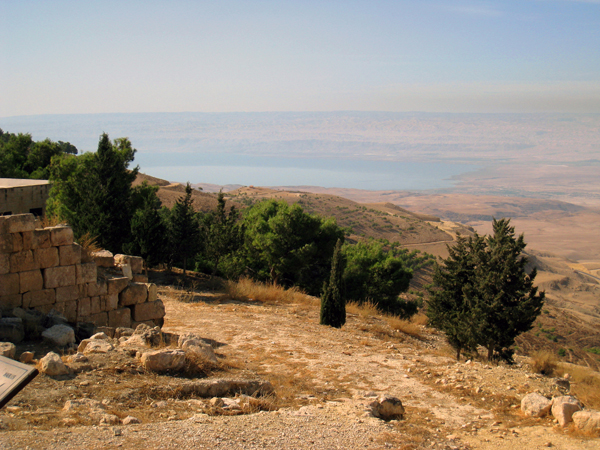 the view of the Promised Land from Mt. Nebo Jordan, as seen by the Israelites after wandering in the desert for 40 years
