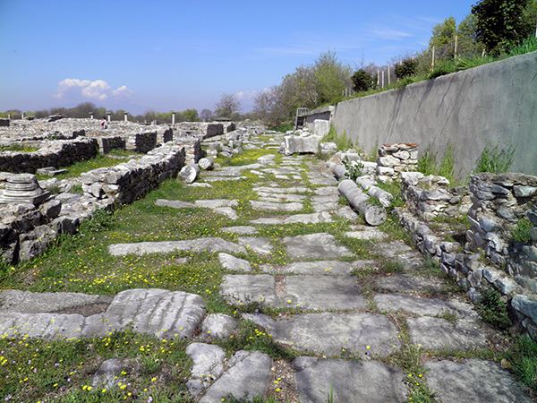 the Via Egnatia at Philippi in Greece