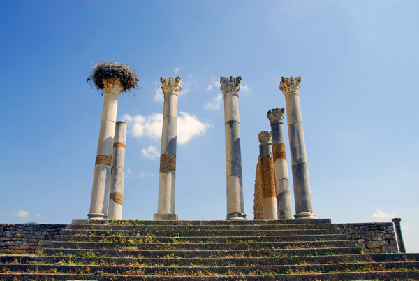 Volubilis, Morocco - the Capitoline Temple