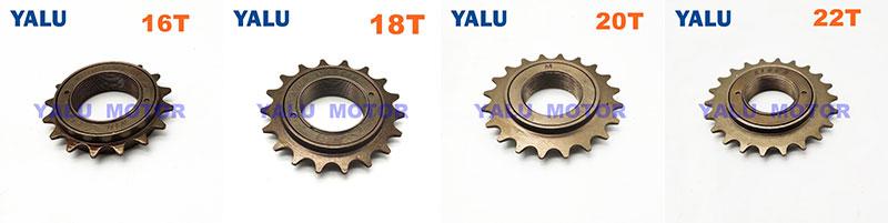 Single Speed Freewheel 16T/18T/20T/22T Bicycle Flywheel Cycling parts - China Yalu Electric www.yalumotor.com