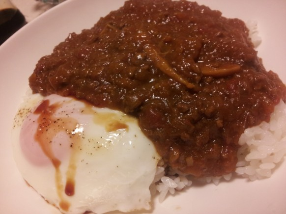 ginger curry with egg