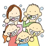 ヤマダ矯正歯科 矯正歯科治療 歯周病イラスト 定期的な検診で歯周病の予防を!