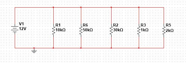 Parallel connected resistors