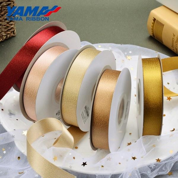 Gold purl satin ribbon