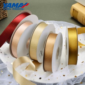 Gold purl satin ribbon