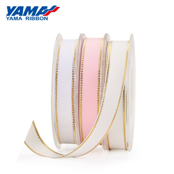 Metallic Edge Grosgrain Ribbon
