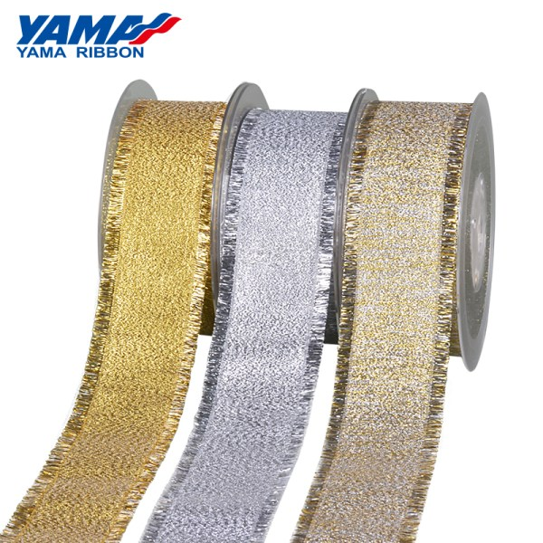 YAMA Metallic Braided Fringe Ribbon