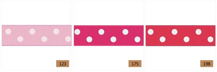 ribbon with 2 dots