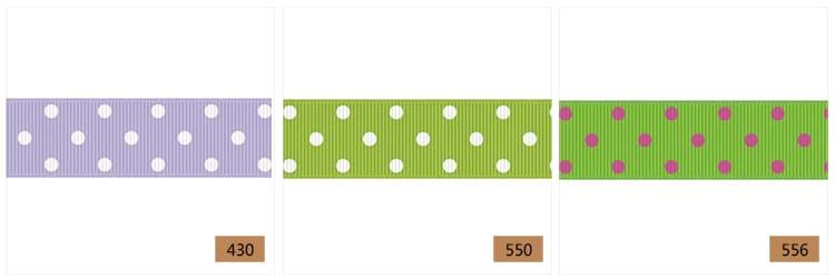 ribbon with 3 dots