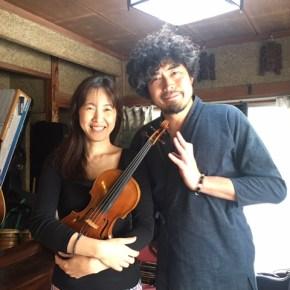 【昨日の山作戰】髙山堂音楽室はヴァイオリンの音色に包まれました。2017.05.07
