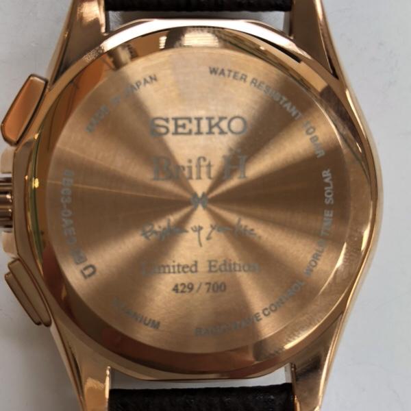 腕時計 セイコーブライツSAGA246 ブリフト 裏蓋側