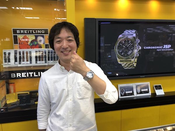 腕時計 BREITLING アベンジャーII GMT ブルー MOP