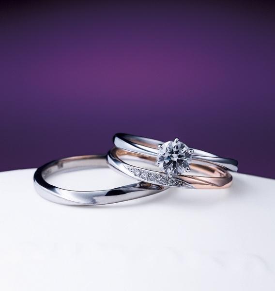 ブライダルリング 婚約指輪 結婚指輪 エンゲージリング マリッジリング 俄 花雪 雪佳景