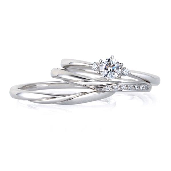 ブライダルリング 婚約指輪 結婚指輪 エンゲージリング マリッジリング NIWAKA   LUCIE セリーン ・ リップル