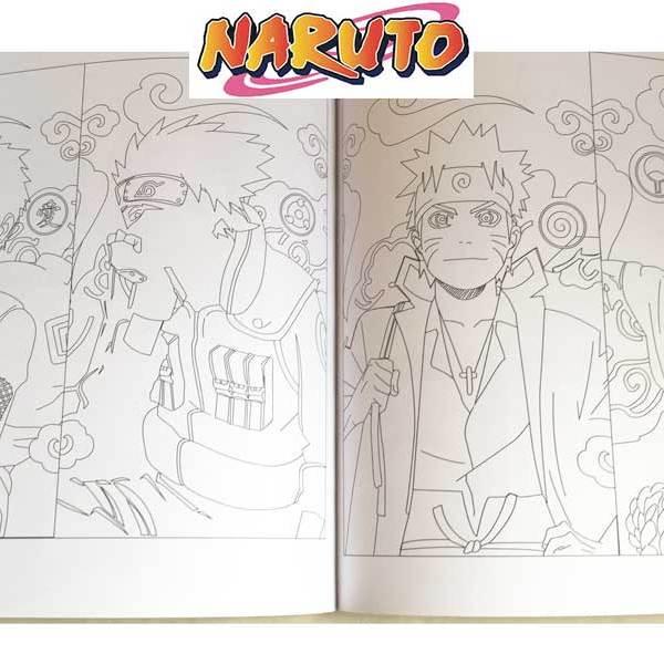 Coloring Book Naruto Yamato One
