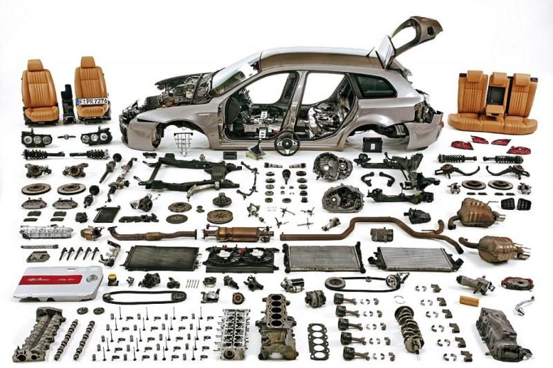 ¿Cuantas piezas tiene un coche?