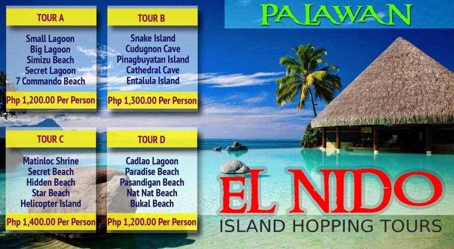 El Nido Island Hopping Tour Rates